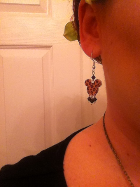 I had to add a bit of Mickey to the outfit, and what better item than leopard print Mickey earrings!