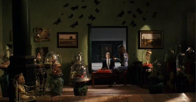 Bedroom--Cloches & butterflies 02