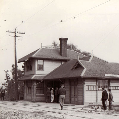 Photo of the original depot from the Heritage Square website.