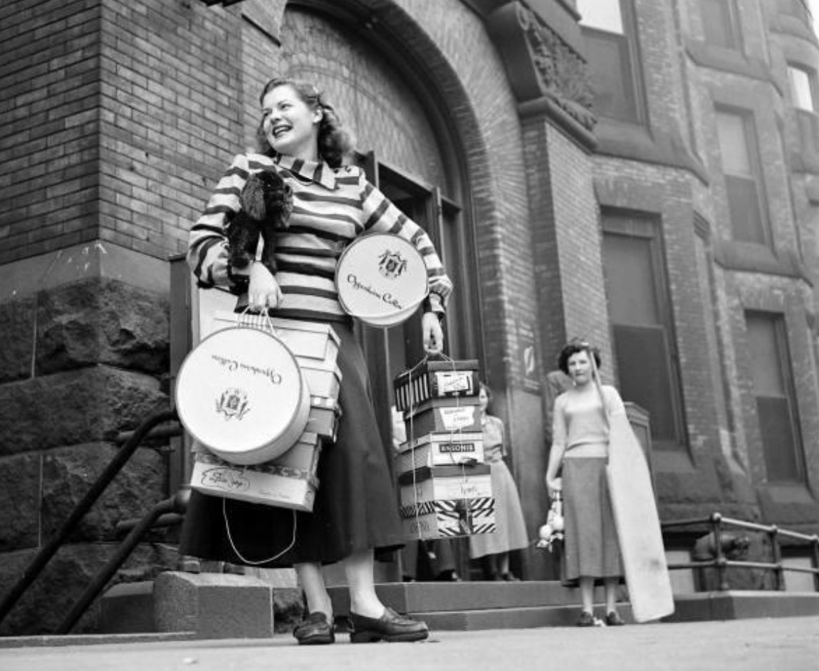 Vintage Woman Shopping