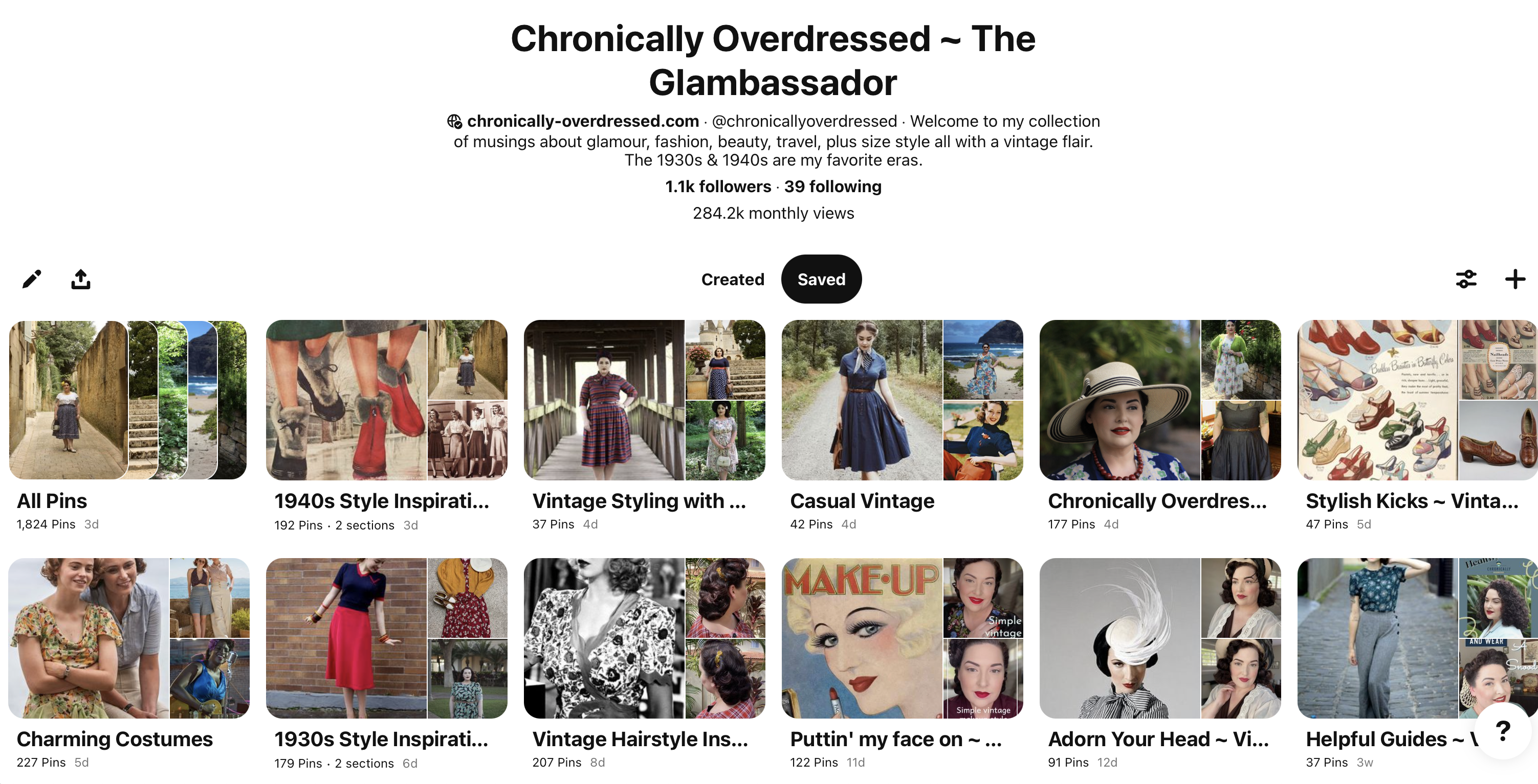 Chronically Overdressed Pinterest Account