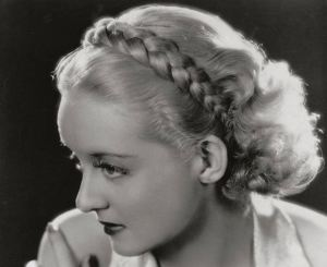 Bette Davis with Braided Hair