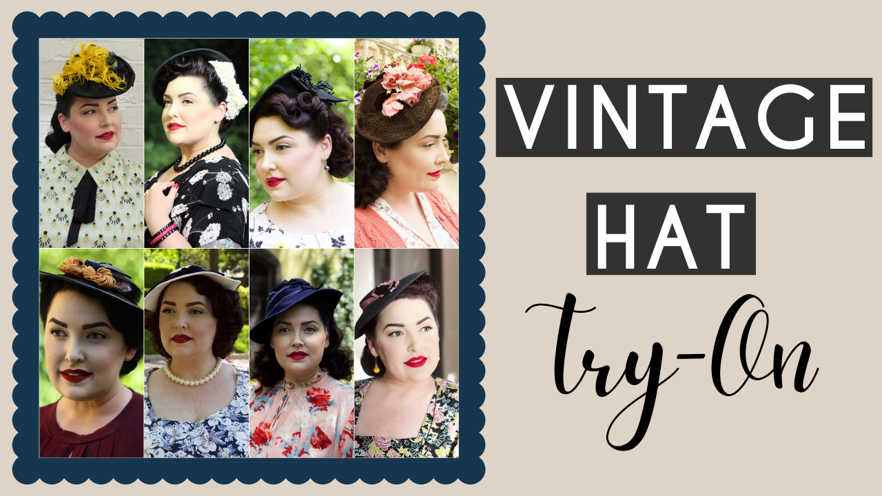 Vintage Hat Collection Try-on