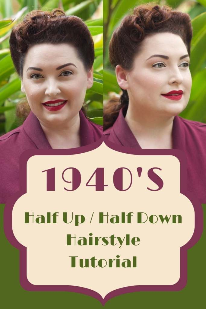 Vintage woman with 1940s hairstyle