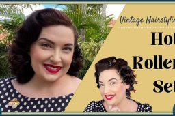Vintage Hot Roller Set Tutorial – Heat Set for Vintage Curls