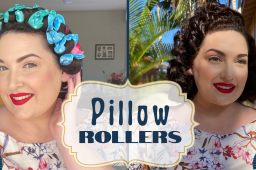 Vintage Waves & Curls from a Pillow Roller Set
