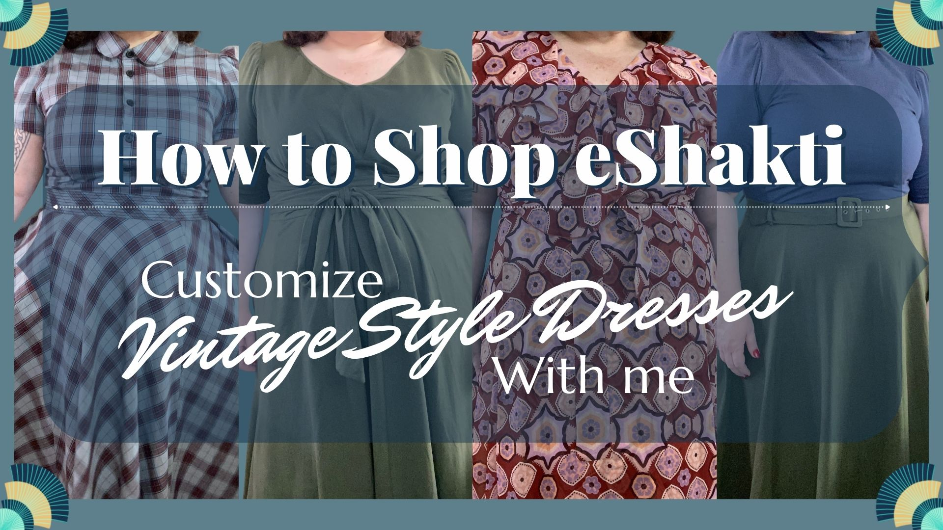 How to Shop on eShakti and Create Beautiful Vintage Inspired Outfits